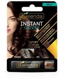 Bielenda  Sztyft na odrosty i siwe włosy brąz Instant Cover 4.3g