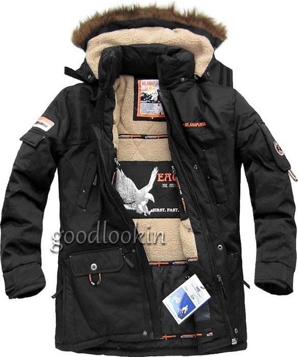 Me Anapurna kurtka zimowa CZARNA (0128)