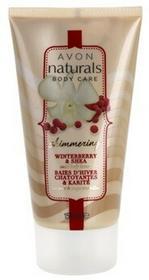 Avon  Naturals Body mieniące sięmleczko do ciała z ostrokrzewem i masłem shea 150ml