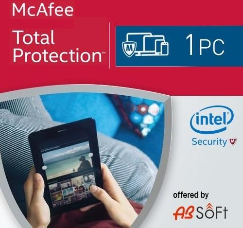 McAfee Total Protection 2017 KEY 1 PC