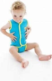 Splash About Mini-kombinezon Baby Wrap - turkusowy z żółtą obwódką