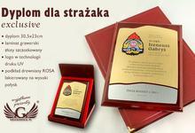 GRAWERNIA.PL Dyplom dla strażaka ZŁOTY DUV006