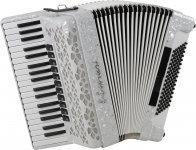 E.Soprani 964 KC 37/4/11 96/4/4 Musette akordeon (biały)