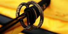 Kuźnia mieczy samurajskich Miecz katana do treningu , stal warstwowana damasceńs