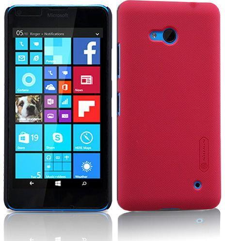 Nillkin Etui Frosted Lumia 640 Czarne + FOLIA 1123