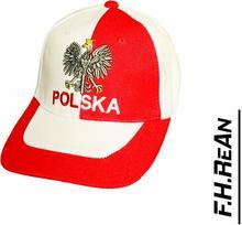 Czapka z daszkiem Bejsbolówka Biało-czerwona z Orłem Polska
