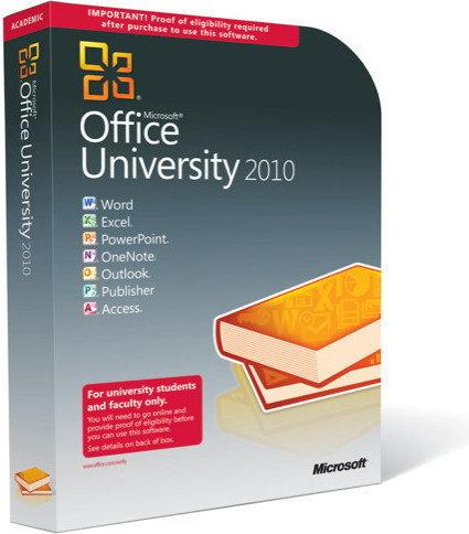 Microsoft Office 2010 University PL BOX