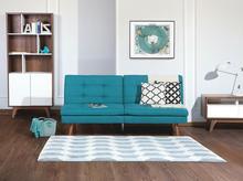 Beliani Sofa z funkcją spania niebieska - kanapa rozkładana - wersalka - RONNE niebieski