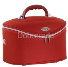 INTER-VION 413568F Kuferek kosmetyczny średni czerwony