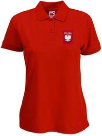 Koszulka Polo Polska Czerwona DAMSKA
