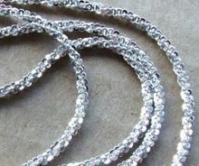Bijou-bijou 45cm Blyszczący Łańcuszek MAŁGOŚKA srebro