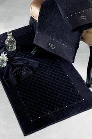 Soft Cotton Dywanik łazienkowy MAIA elementy Swarovski 50x90 cm Czarny 4066