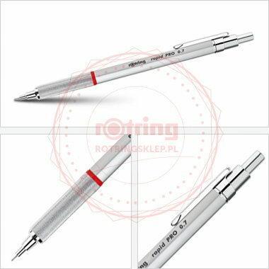 Rotring Rapid Pro precyzyjny ołówek automatyczny 0,7mm - srebrny - S0914530