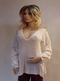 MaximoModa Klasyczny biały sweterek XL PU0004