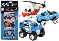 Lean Zestaw Pojazdów Policja Helikopter Straż Monster Toys