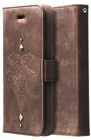 Zenus Retro Vintage Diary Case/torba na ciemny brąz do Apple iPhone 5/5S