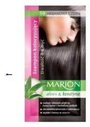 Marion Aloes & Keratyna 4-8 myć szampon koloryzujący w saszetce 59 Hebanowa Czerń 40ml