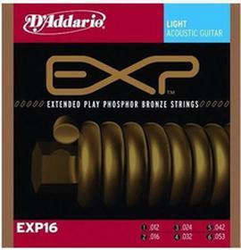 DAddarioXP16 - do gitary akustycznejnej, 12-53 EXP16