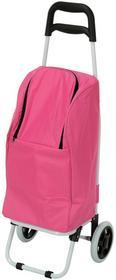 Wózek na kółkach - termiczna torba na zakupy - różowy