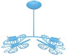 Light Prestige LAMPA wisząca MOTYLEK LP-14031/2P metalowa OPRAWA dziecięca ZWIS niebieski