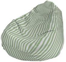 Dekoria Pokrowiec na worek do siedzenia, zielono białe pasy (1,5cm), worek O80x1