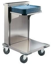 Edenox Wózek z ruchomą platformą do tac i koszy