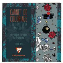 Clairefontaine Kolorowanka A5 dla dorosłych Tatuaż