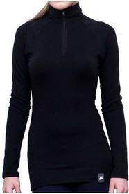 W gorach Koszulka wełniana MERINO WOOL WOMEN black