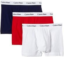 Calvin Klein Bokserki U2662G dla mężczyzn, kolor: wielokolorowy (I03 White, Red ginger, Pyro blue), rozmiar: 5 (M)