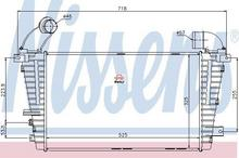 NISSENS Chłodnica powietrza doładowującego - intercooler 96590