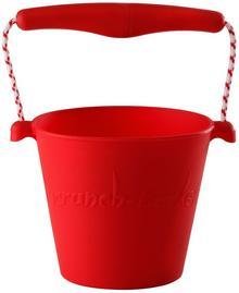 Scrunch Bucket zabawki do piaskownicy silikonowe czerwone FW38050