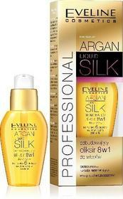 Eveline Argan & Keratin Liquid Silk Eliksir do włosów odbudowujący 8w1 37ml