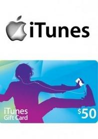 iTunes 50 USD GIFT CARD PREPAID US