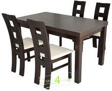 FRONTI Komplet Stół 120 + 4 krzesła