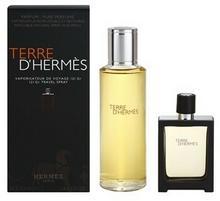 Hermés Terre DHermes perfumy napełnienie 125 ml + perfum wielokrotnego napełniania 30 ml