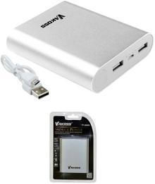 Vakoss PowerBank TP-2588S 10400 mAh Srebrny