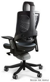 Unique Fotel biurowy WAU 2 tkanina czarny/ciemny szary W-709B-BL417)