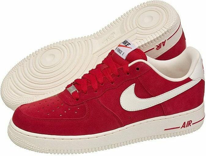 nike air force 1 low czerwone białe/granatowe