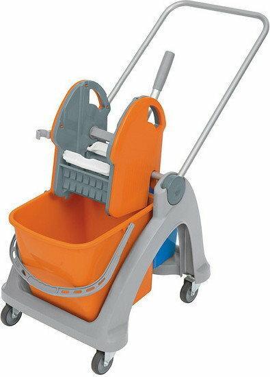 Splast Wózek do sprzątania dwuwiadrowy z prasą do