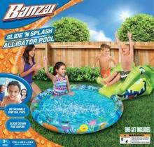 Banzai Basen ze zjeżdżalnią krokodyl BANZ09026