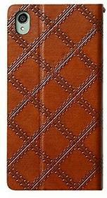 Zenus ZA400429 Italian Vintage Quilt in braun für Sony Xperia Z3