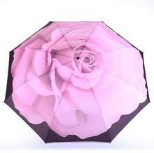 Galleria Parasol składany automatyczny Perfekcyjna Róża 33025 wielokolorowy