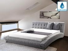 Beliani łóżko wodne 160x200 cm - dodatki - szare - LILLE szary