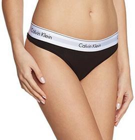 Calvin Klein Stringi underwear MODERN COTTON - THONG dla kobiet, kolor: czarny (BLACK 001), rozmiar: 36 (rozmiar producenta: S)