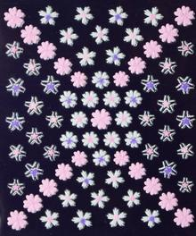 Ozdoby do paznocki biało-kolorowe fiolet+róż+biel 3D DA05-02