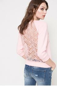 Answear Bluza BECAUSE OF YOU WS17.BLD021 pastelowy różowy