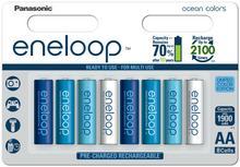 Panasonic 8 x akumulatorki Eneloop Ocean Colors R6/AA 2000mAh blister BK-3MCCE/8BE