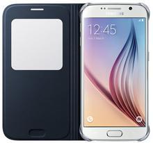 Samsung S-View Cover PU do Galaxy S6 Czarne Black EF-CG920PBEGWW
