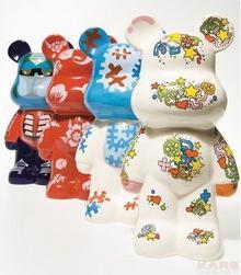 Kare Design Pop Art & Fun Skarbonka kolorowy miś, Assorted 30095