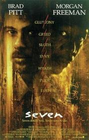 Seven / Siedem - Brad Pitt, Morgan Freeman - Plakat